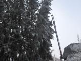 Bäume drohten auf Haus zu stürzen