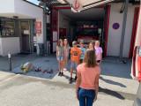 Die Volksschule zu Besuch bei der Feuerwehr