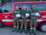Feuerwehrjugend bei der praktischen Prüfung für den Wissenstest in Gold